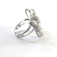 bow ring 18k sideview
