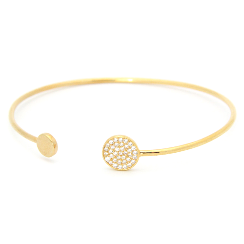 Initial Cuff Bracelet Yellow Gold