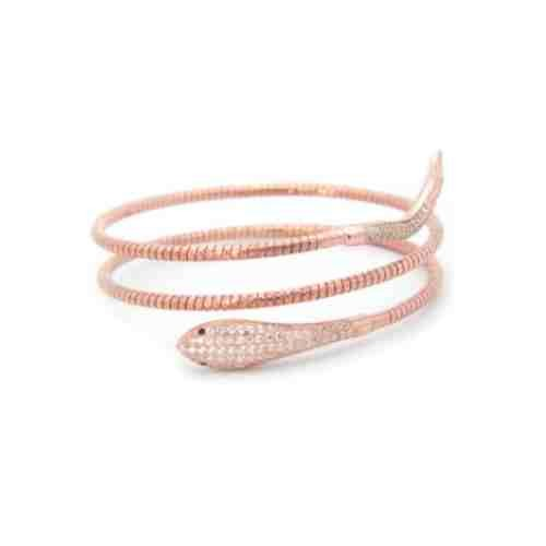 double snake bracelet rose gold