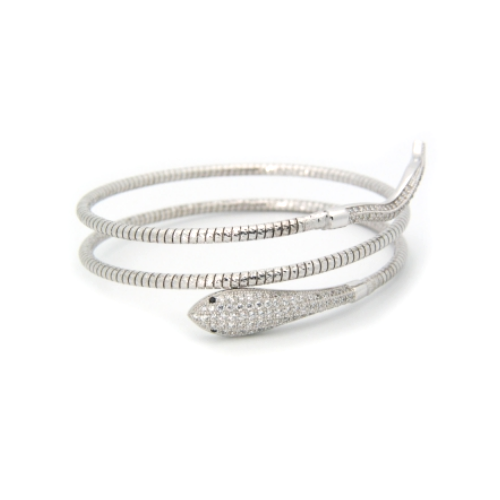 double snake white gold bracelet
