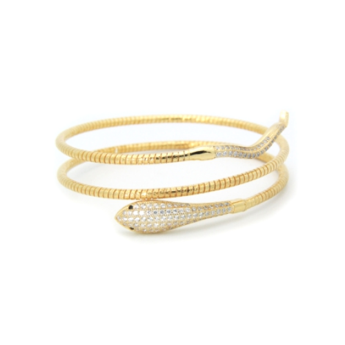 double snake yellow gold
