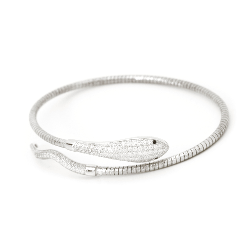 single snake bracelet white gold