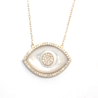 evil eye necklace yellow gold