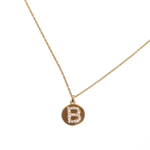 Diamong Initial Necklace