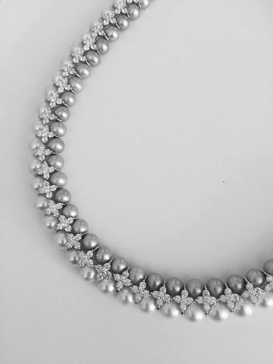 Party Pearl Choker Necklace Mb Jewelry Shop
