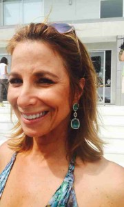 Jill Zarin Wearing MB Jewelry Shop Green Jade Earrings