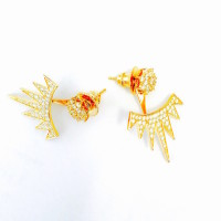 gold spike ear jackets